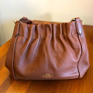 COACH | Brown vintage style leather fall purse